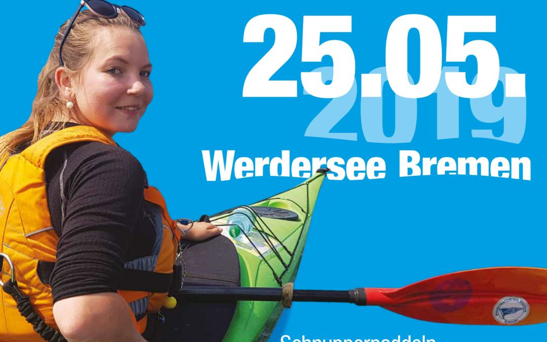 Drachenboot-Schnupperpaddeln beim ersten Bremer Kanu-Testival auf dem Werdersee